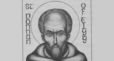 Feast Day of Saint Donnán of Eigg, Patron Saint of Eigg